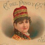 Etiqueta diseño antiguo Cayetano del Pino